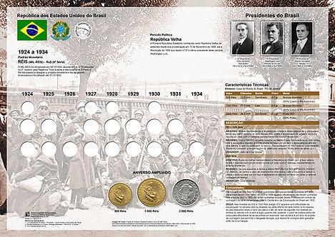 Painel Expositor para Moedas de Réis 1924 - Reflexos da Inflação