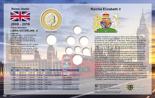 Painel Expositor para Moedas da série Escudo Real Britânico
