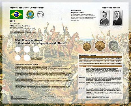 Painel Expositor para Moedas de Réis 1922 - Centenário da Independência