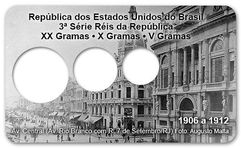 Display Expositor com Case para Moedas Série Réis - 1906