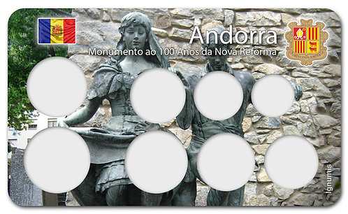 Display Expositor para Moedas do Euro - Andorra