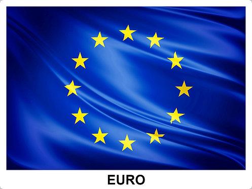 Adesivo Bandeira do Euro