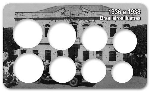 Display Expositor com Case para Moedas Série Réis Brasileiros Ilustres - 1936