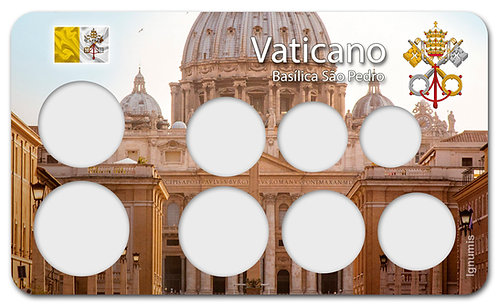 Display Expositor para Moedas do Euro - Vaticano