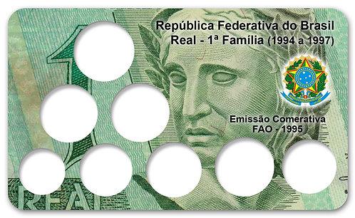 Display Expositor com Case para Moedas Série Real - 1ª Família + FAO