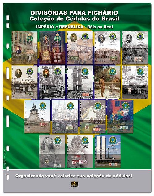 Divisórias para Fichário Cédulas do Brasil - 17 Pçs