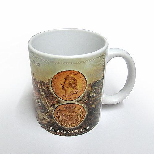Caneca Decorada Peça da Coroação 1822
