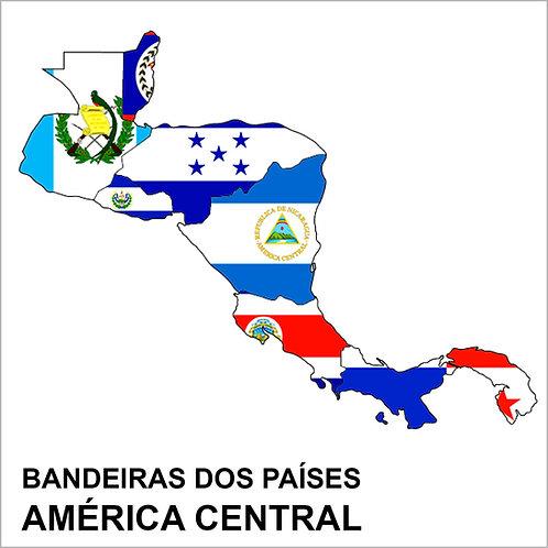 Kit Bandeiras Adesivas da América Central (20 Países) - Completo