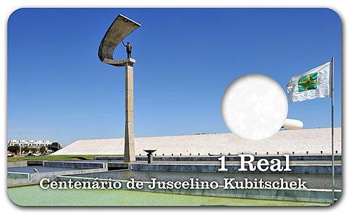 Display Expositor com Case para Moeda Real Juscelino Kubitschek