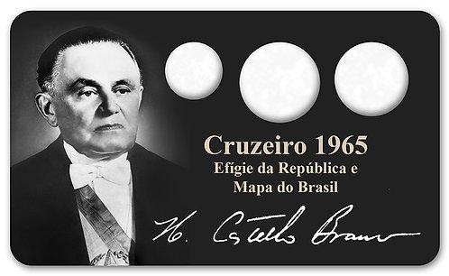 Display Expositor com Case para Moedas Cruzeiro - 1965