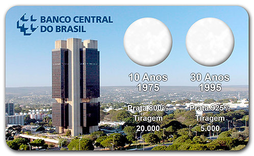 Display Expositor com Case para Moedas Real Banco Central