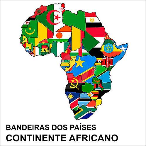 Kit Bandeiras Adesivas da África (54 Países) Completo