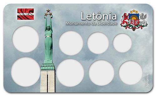 Display Expositor para Moedas do Euro - Letônia