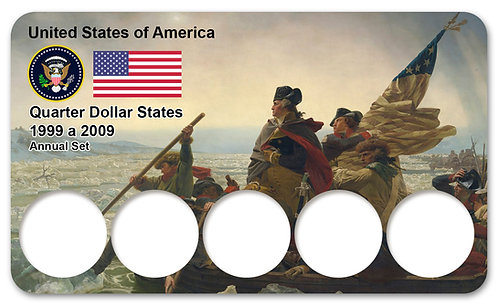 Display Expositor para Moedas Quarter Dollar States