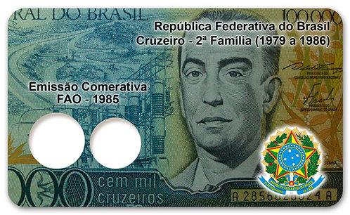 Display Expositor com Case para Moedas Cruzeiro - FAO 1985