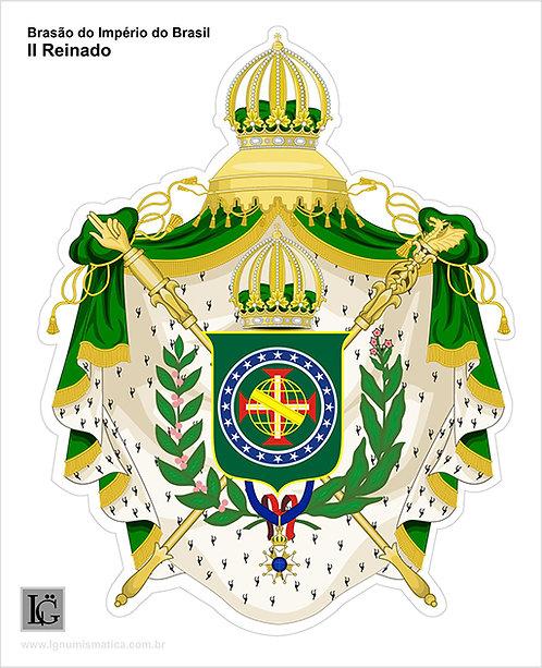 Adesivo Brasão do Império Brasileiro - II Reinado