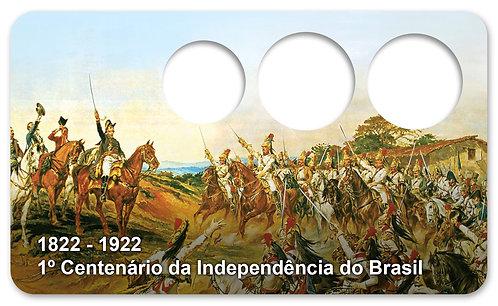 Display Expositor com Case para Moedas Série Réis - 1922 e BB