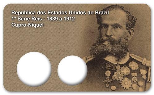 Display Expositor com Case para Moedas 1ª Série Réis - 1889 (Cupro-Níquel)