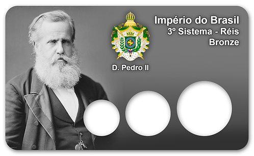 Display Expositor para Moedas Série Réis - 3º Sist. Bronze