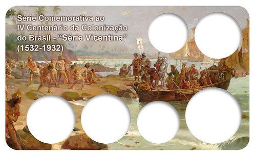 Display Expositor com Case para Moedas Série Réis Vicentinas - 1932