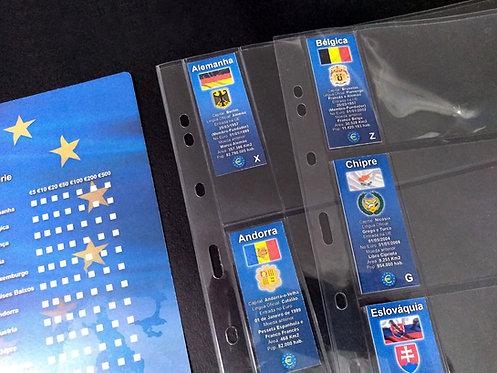 Divisória e Marcadores do Fichário de Cédulas Euro - 23 Países da 2ª Série
