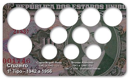 Display Expositor com Case para Moedas Cruzeiro - 1942