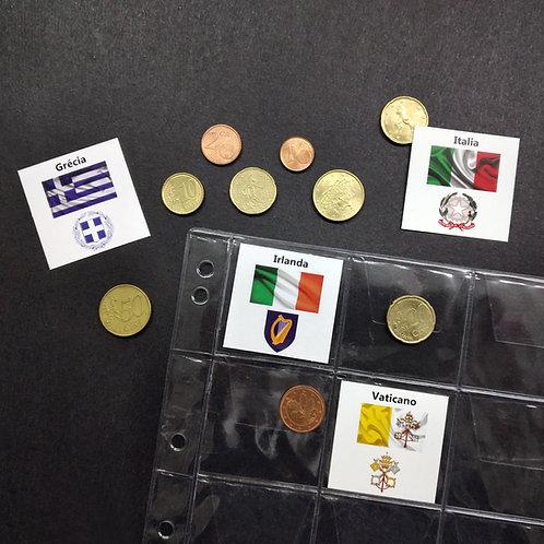 Marcador para Coleção de Moedas Euro - Kit 23 Países