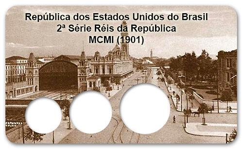 Display Expositor com Case para Moedas Série Réis MCMI - 1901