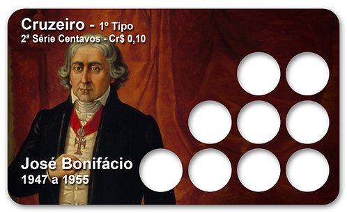 Display Expositor para Moedas Cruzeiro - José Bonifácio