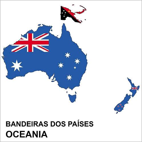 Kit Bandeiras Adesivas da Oceania (19 Países) - Completo