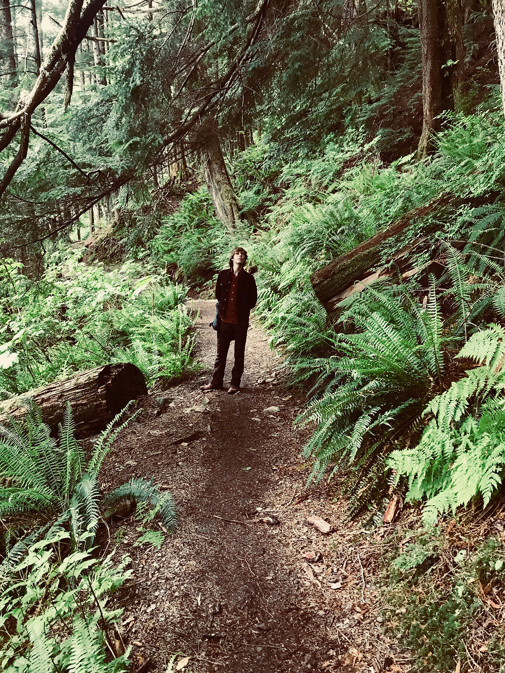Andrew Bockelman hiking in Ketchikan