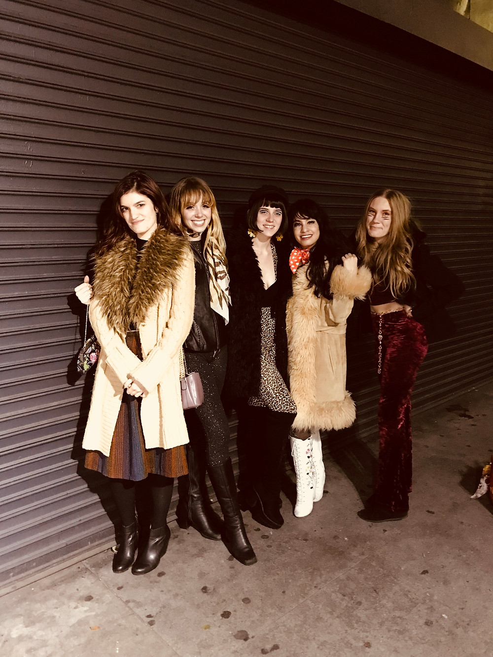 Left to right: Amanda, me, Olivia, Breezy, and Stardust outside of the Monty in LA