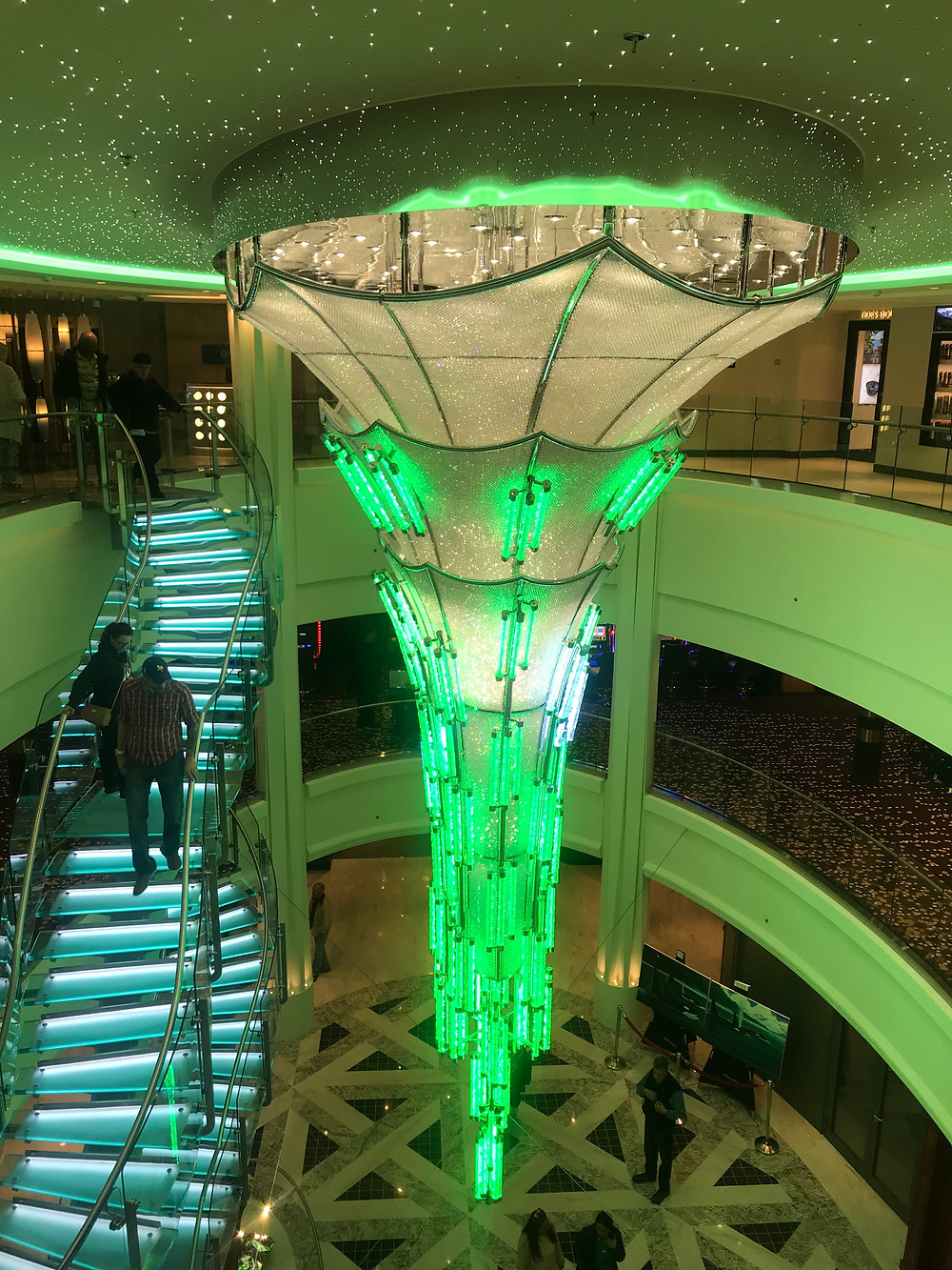 Giant chandelier in the ship