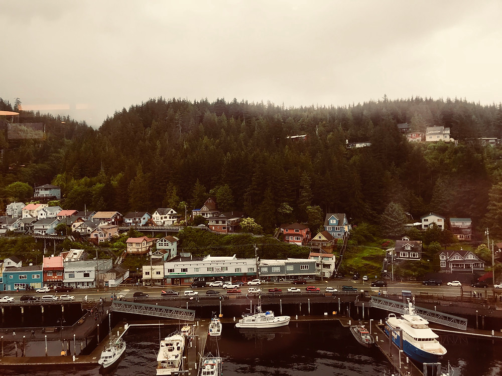 Our view from breakfast looking onto Ketchikan