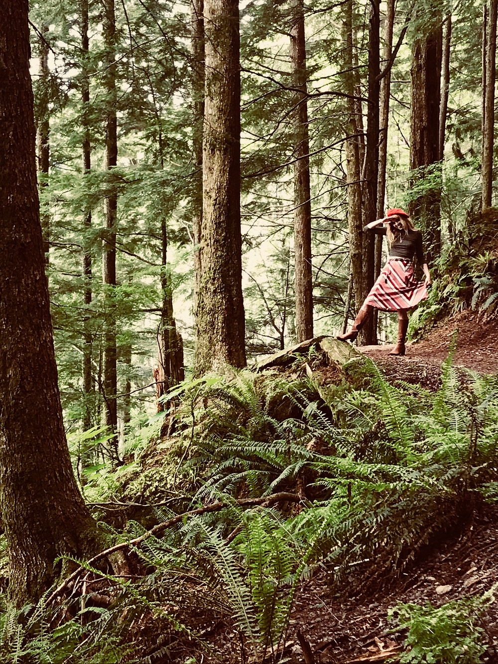 Devyn Crimson hiking in Ketchikan