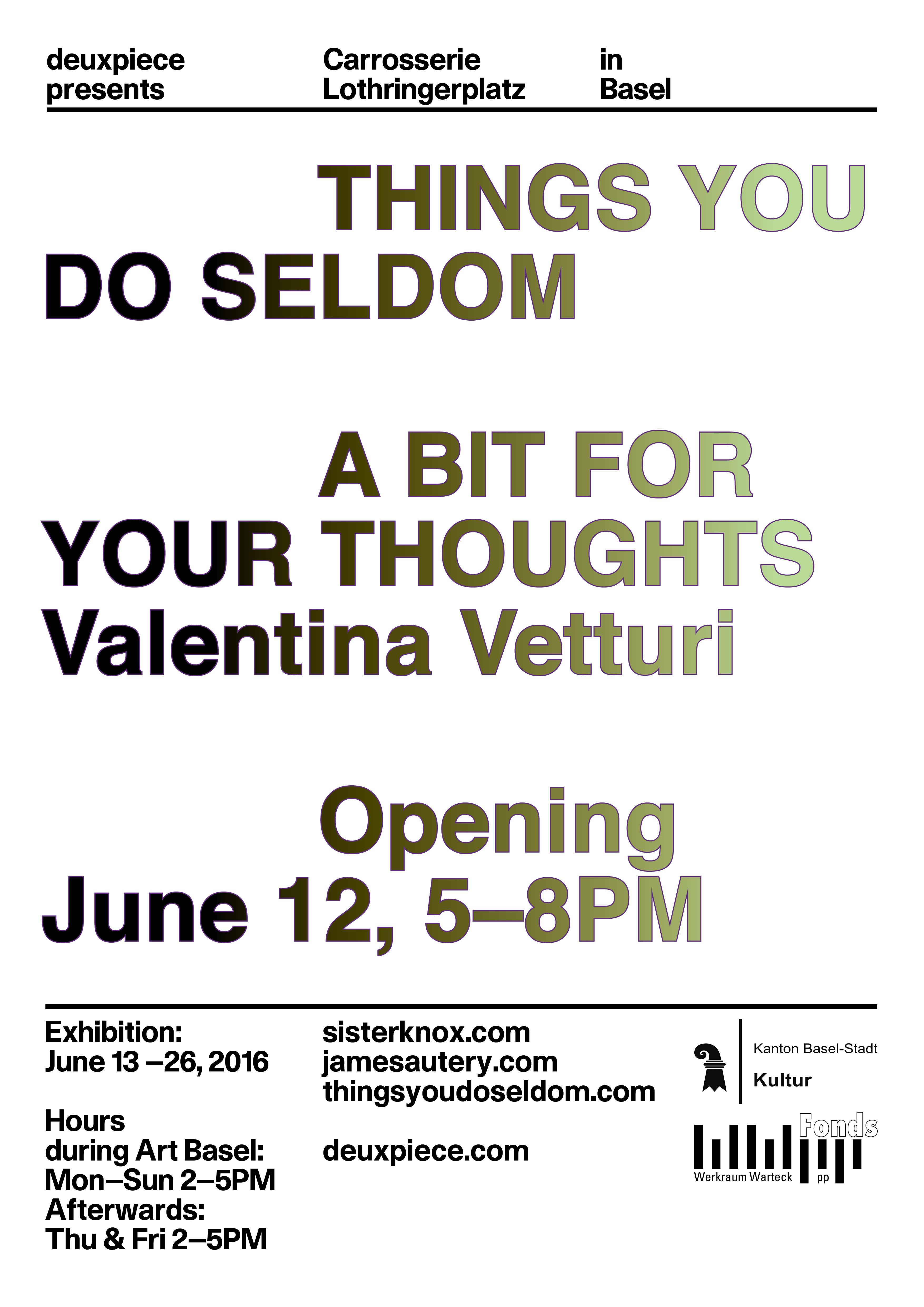 Seldom Things / Vetturi