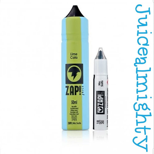Zap Lime Cola, 18mg Nic Salt Shot (50ML)
