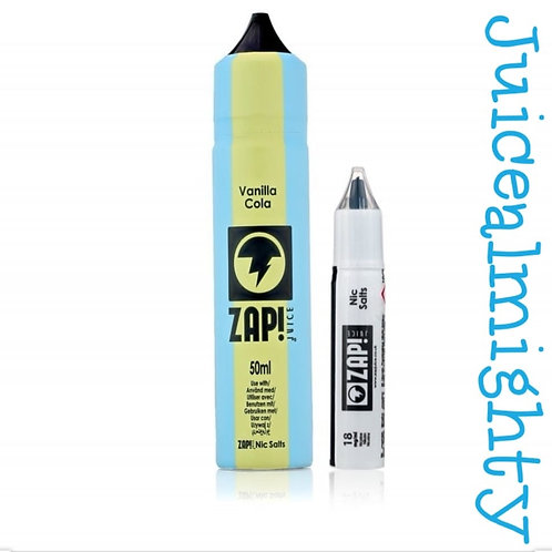 ZapVanilla Cola, 18mg Nic Salt Shot (50ML)