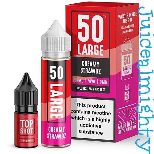 50 Large Creamy Strawbz 50ML