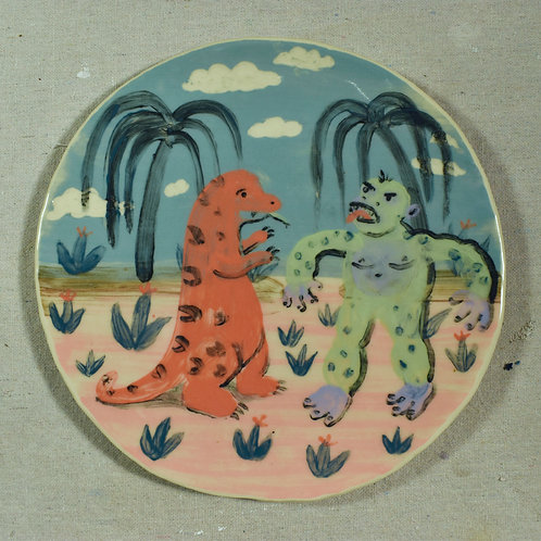 Dino vs Great Ape plate