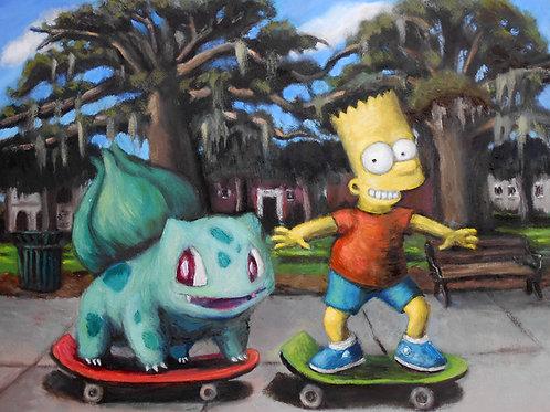 Skateboarding in The Park