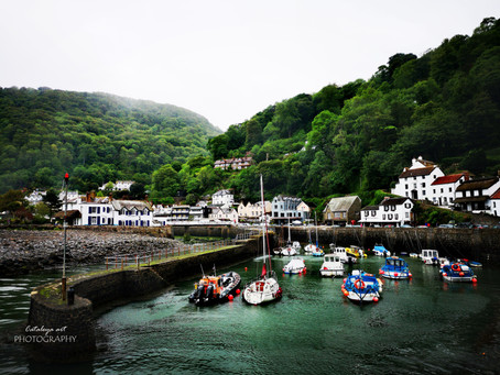 Lynmouth, Devon, England - city in the clouds