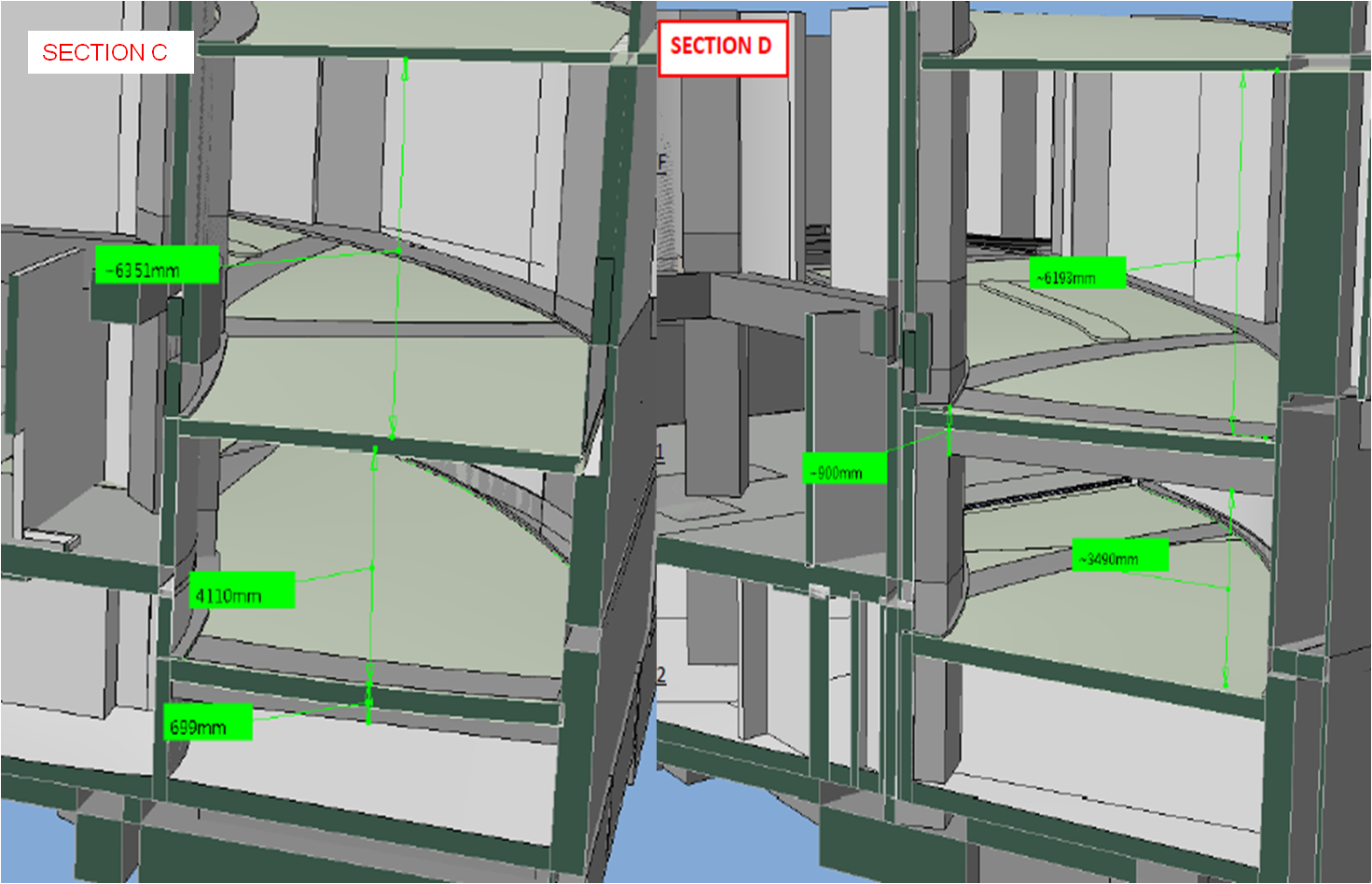 BIM - Car Ramp Headroom section 2