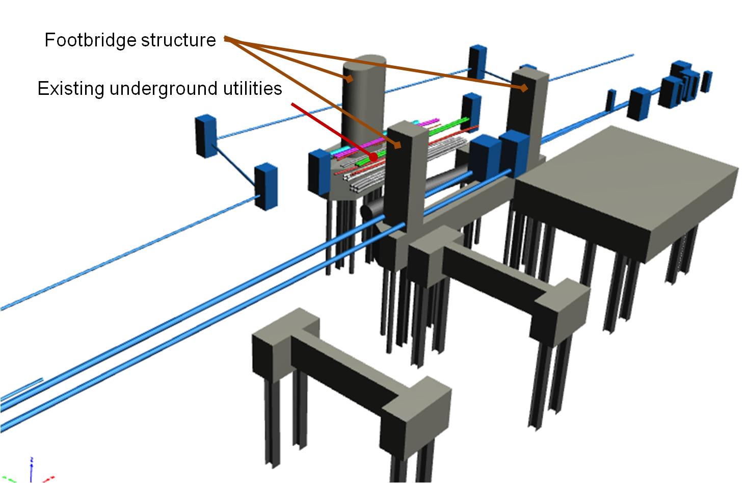 BIM - Underground - check footbridge structure vs UU