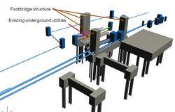 BIM - Underground - check footbridge structure vs UU