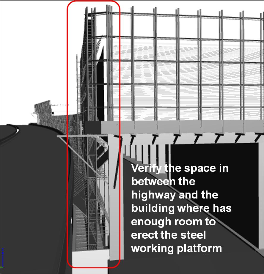 BIM - Construction - Catch fence erection verification