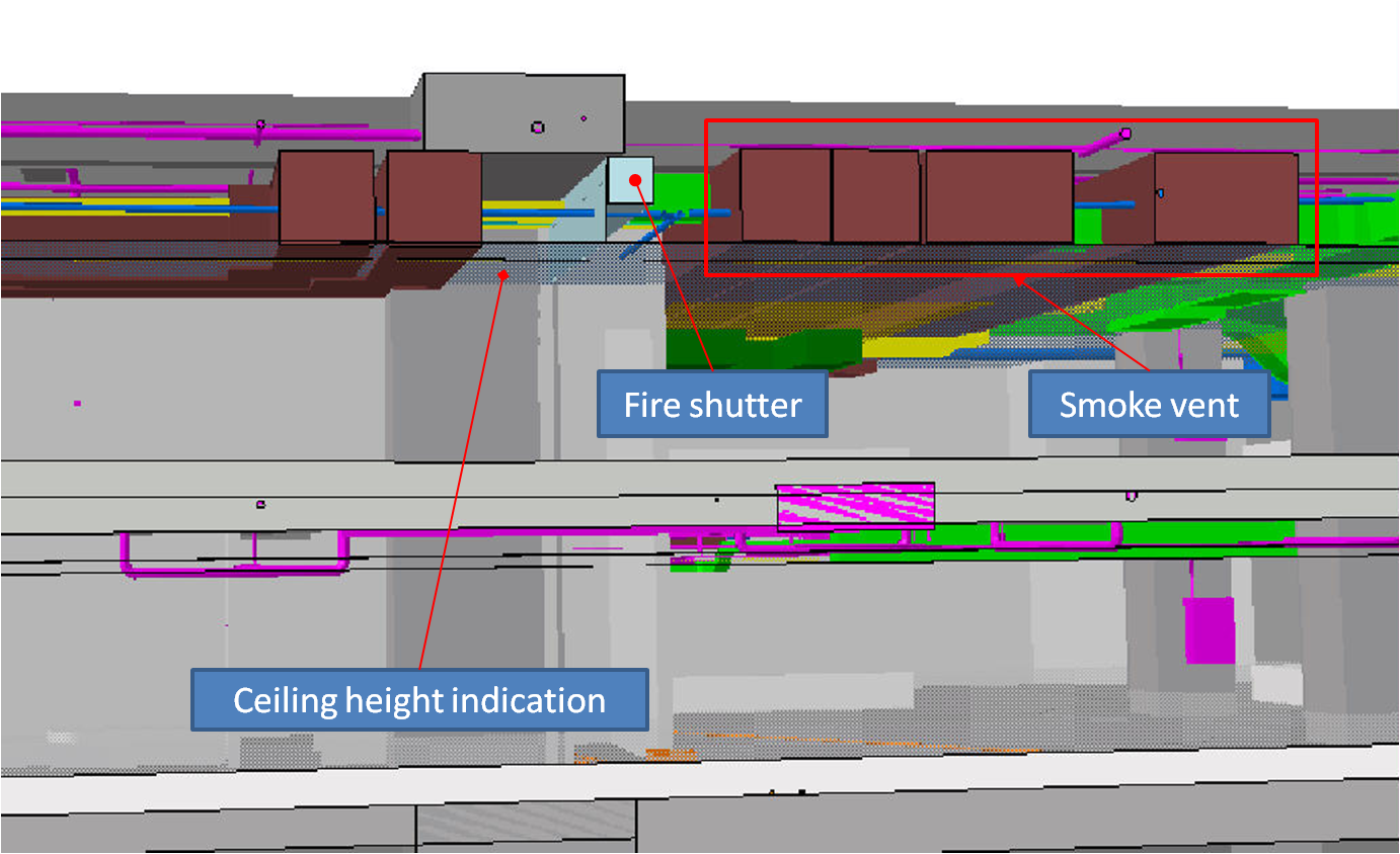 BIM - Basement - Smoke vent vs MEP