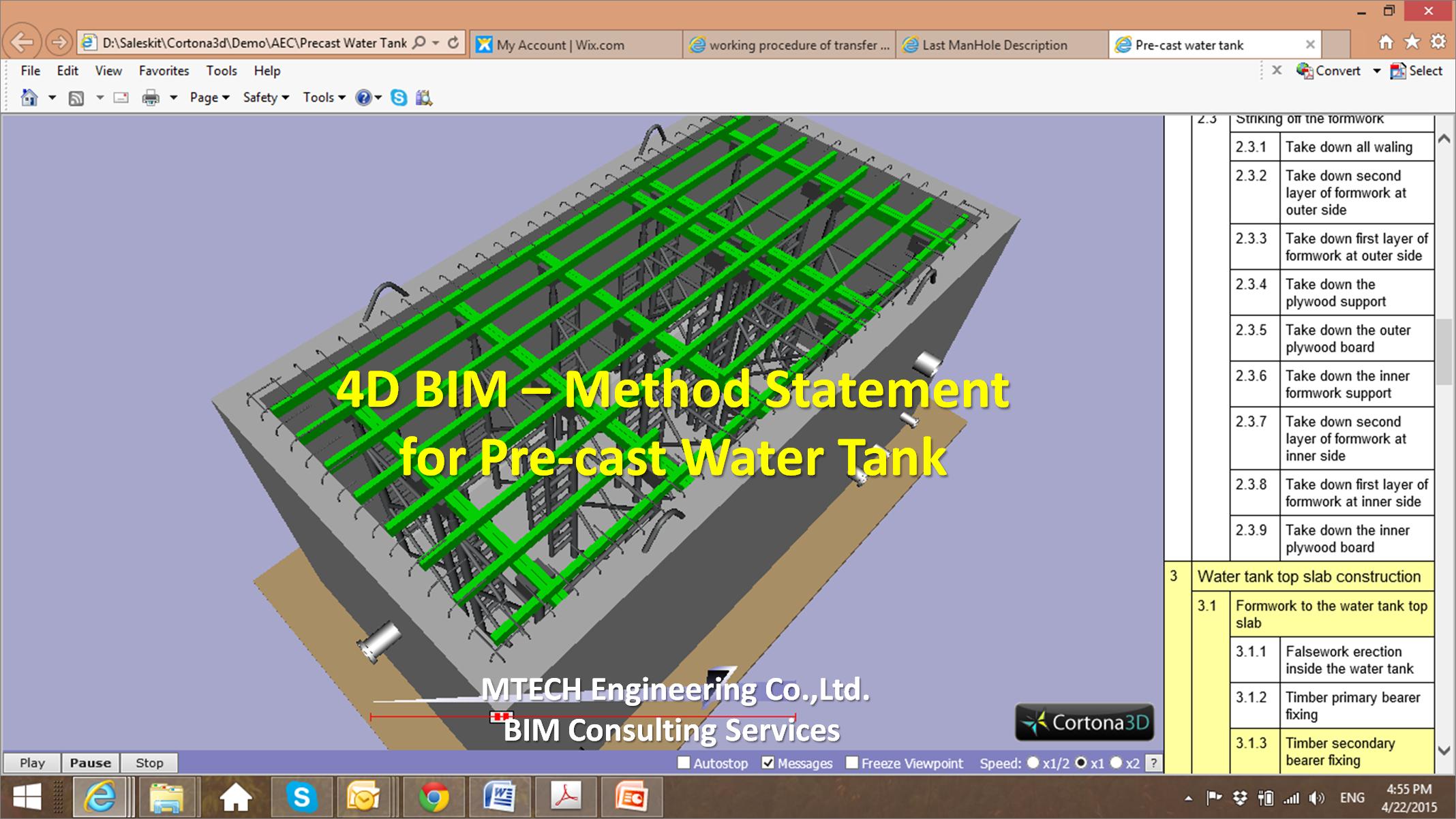 Pre-cast Water Tank Method Statement