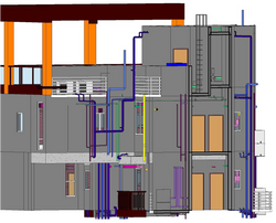 BIM - Tower - Pipe works alignment from last typical floor to special unit 2
