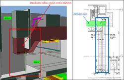 BIM - Basement - Smoke vent headroom checking